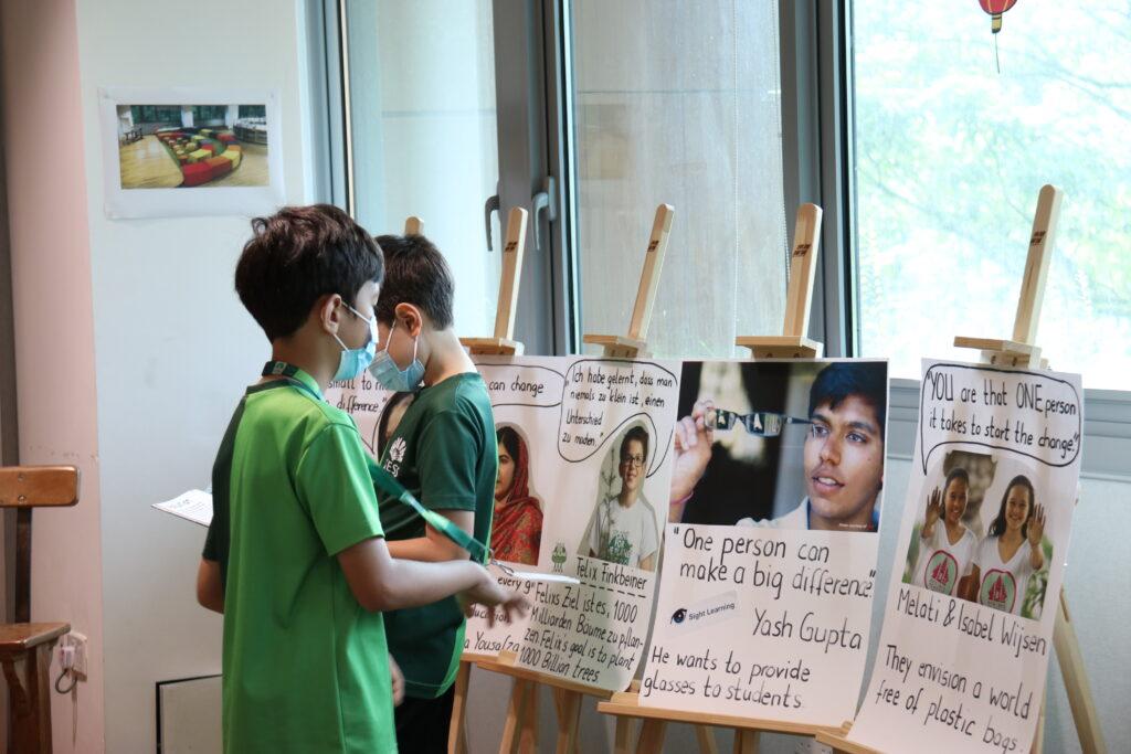 International School in Singapore_Students at UN Sustainable Development Exhibition
